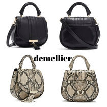 DEMELLIER Casual Style 2WAY Plain Leather Office Style Python