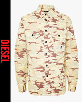 DIESEL Camouflage Street Style Long Sleeves Shirts
