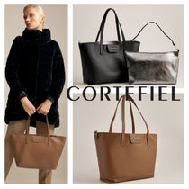 CORTEFIEL Bag in Bag Leather Office Style Elegant Style Bags