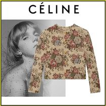 CELINE Flower Patterns Party Style Office Style Elegant Style