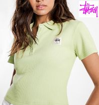 STUSSY Casual Style Plain Cotton Polos