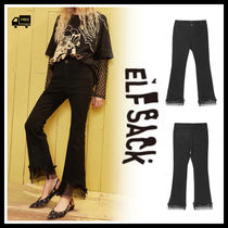 ELF SACK Casual Style Street Style Long Lace Office Style Oversized