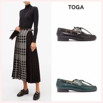 TOGA Plain Toe Casual Style Tassel Plain Other Animal Patterns