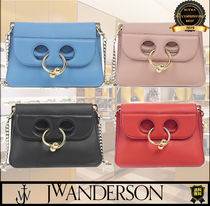 J W ANDERSON Casual Style Elegant Style Logo Shoulder Bags
