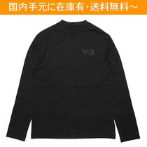 Y-3 Crew Neck Street Style Collaboration Long Sleeves Cotton
