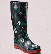 kate spade new york Flower Patterns Rubber Sole Rain Boots Boots