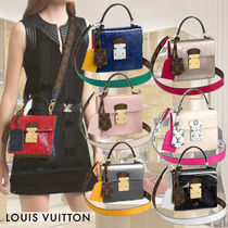 Louis Vuitton MONOGRAM VERNIS Casual Style Calfskin 2WAY Leather Party Style Elegant Style