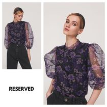 RESERVED Flower Patterns Puffed Sleeves Puff Sleeves Shirts & Blouses