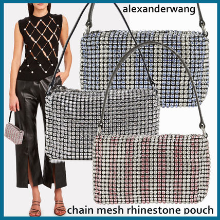 Leather With Jewels Elegant Style Formal Style  Handbags