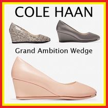 Cole Haan Plain Toe Casual Style Plain Leather Office Style Python