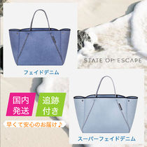 State of Escape Casual Style Unisex A4 Plain Handmade Office Style Totes