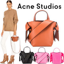 Acne Casual Style Suede Plain Party Style Elegant Style