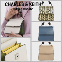 Charles&Keith Faux Fur 2WAY Leather Party Style Elegant Style Handbags