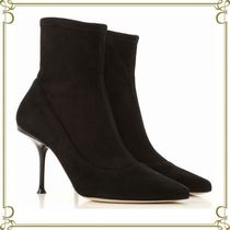 Sergio Rossi Suede Plain Elegant Style Ankle & Booties Boots