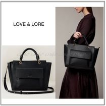 LOVE & LORE Casual Style Faux Fur 2WAY Plain Office Style Elegant Style