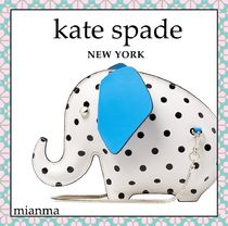 kate spade new york Dots Casual Style 2WAY Other Animal Patterns Leather