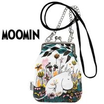 Moomin Flower Patterns Casual Style Unisex Canvas Shoulder Bags