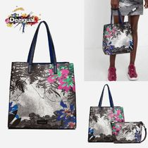 Desigual Flower Patterns Casual Style Bag in Bag 2WAY Elegant Style