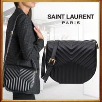 Saint Laurent Casual Style Calfskin Vanity Bags Leather Party Style