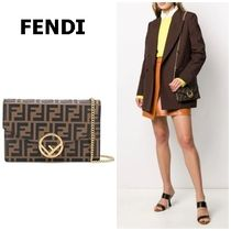 FENDI Calfskin Chain Shoulder Bags