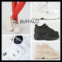 Buffalo LONDON Platform Unisex Street Style Plain Leather