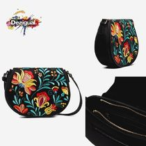 Desigual Flower Patterns Casual Style Elegant Style Shoulder Bags