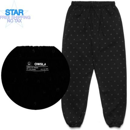 Printed Pants Casual Style Sweat Street Style Long Logo