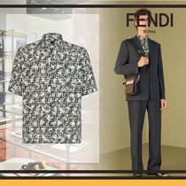 FENDI Camouflage Short Sleeves Oversized Shirts
