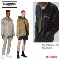 FEAR OF GOD ESSENTIALS Unisex Street Style Plain Coach Jackets Coach Jackets