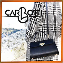 CARBOTTI Casual Style 2WAY Plain Leather Party Style Office Style