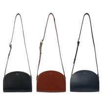 A.P.C. Casual Style Street Style Leather Shoulder Bags