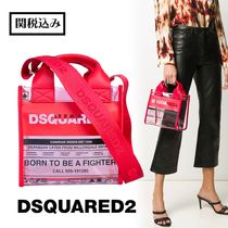 D SQUARED2 Street Style Crystal Clear Bags PVC Clothing Handbags