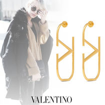 VALENTINO VLOGO Costume Jewelry Casual Style Party Style Office Style