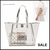 SOPHIA WEBSTER Casual Style Bag in Bag PVC Clothing Totes