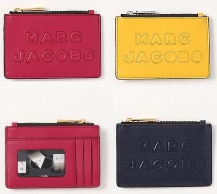 MARC JACOBS Unisex Plain Leather Small Wallet Logo Coin Cases
