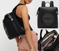 MIMCO Casual Style Unisex Street Style A4 2WAY Plain Backpacks