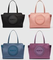 MIMCO Casual Style Unisex Tassel A4 Plain Oversized Totes