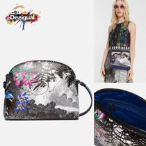 Desigual Flower Patterns Casual Style Shoulder Bags