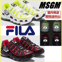MSGM Unisex Street Style Collaboration Sneakers