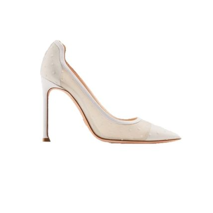 Christian Dior Logo Elegant Style Pointed Toe Pumps & Mules
