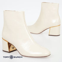 Tory Burch Casual Style Plain Leather Block Heels Party Style