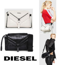 DIESEL Casual Style 2WAY Leather Party Style Elegant Style Handbags