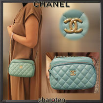 CHANEL ICON Casual Style Lambskin 2WAY Chain Plain Leather Party Style