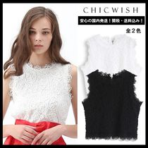 Chicwish Casual Style Sleeveless Medium Lace Office Style