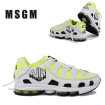 MSGM Leather Sneakers