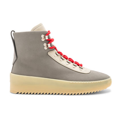 Suede Street Style Leather Engineer Boots