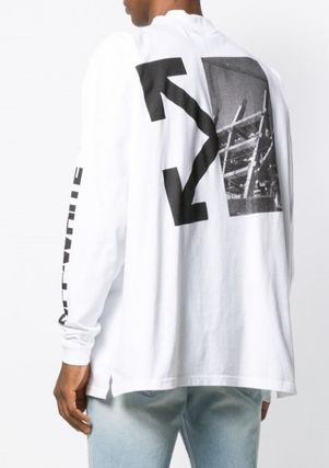 Off-White Long Sleeve Street Style Long Sleeves Logos on the Sleeves 2