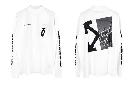 Off-White Long Sleeve Street Style Long Sleeves Logos on the Sleeves 3