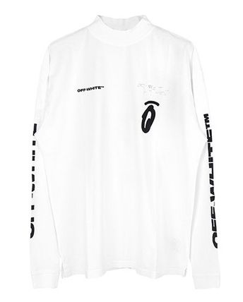 Off-White Long Sleeve Street Style Long Sleeves Logos on the Sleeves 4