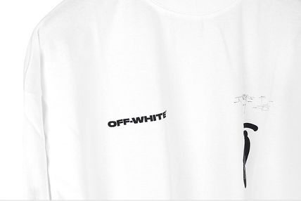 Off-White Long Sleeve Street Style Long Sleeves Logos on the Sleeves 11